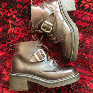 Vintage Station Six Leather Buckle Boots
